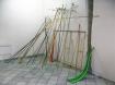 Lisa Duroux // Architecture d'une vague // bois, acier, ficelle, peinture // dimensions variables // 2011