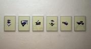 Anne Renaud // Sans titre // huile sur papier // 21 x 28,3 cm chaque // 2013